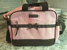 Baby Essentials Travel Cooler Bag Pink Brown Diaper Bag W Changing Pad Polka Dot