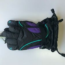 Head Jr Kids Ski Gloves Black/Purple/ Blue Size Xl- Ages 14-16+