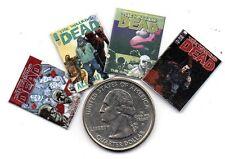 4 Miniature  'The Walking Dead'   Comics  - Dollshouse 1:12 scale