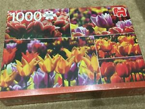 Jumbo 1000 Piece Jigsaw All About Tulips From Holland Brand New & Sealed