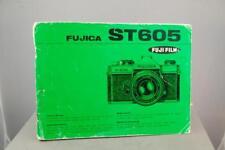 Fujica ST605 orignal camera instruction book
