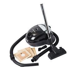 Home-tek 800W Cylinder Bagged Vacuum Cleaner HT689 - Black / Silver