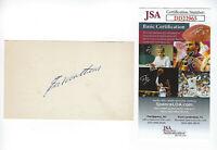 BRAVES Eddie Mathews signed 3x5 index card JSA COA AUTO Autographed Milwaukee
