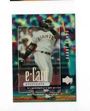 2001 BARRY BONDS UPPER DECK E-CARD #E6 BASEBALL INSERT CARD NRMT UD E ECARD