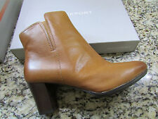NEW ROCKPORT ORDELLA ZIP CHELSEA  LEATHER ANKLE BOOTIES BOOTS WOMENS 10 COGNAC