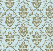 Klebefolie - Möbelfolie Ornamente Barock Gold Hellblau 0,90 m x 15 m Dekorfolie