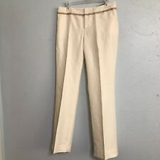 NWT Banana Republic Martin Fit Wide Leg Pants Size 6 Cream Linen Blend.