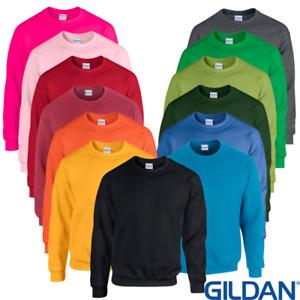 Gildan Adult Crew Neck Sweatshirts Polycotton. Various Warm Sweater Cosy Plain