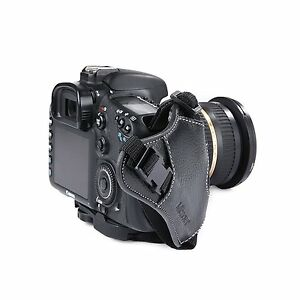 MQ-GS2 Leather Hand Grip Wrist Strap for Universal DSLR Cameras Canon EOS Nikon
