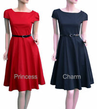 Knee Length 100% Cotton Dresses for Women with Cap Sleeve