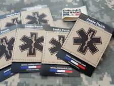 "SNAKE PATCH "" STAR OF LIFE "" TAN EMT US ambulancier MEDIC médecin GALON scratch"