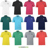 Lonsdale Mens Plain Cotton Polo T-Shirt Size S M L XL 2XL 3XL 4XL Casual Fashion