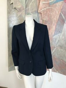 VINTAGE Haberdashery is Personal Blue Blazer Jacket Womens R SZ 8 USA
