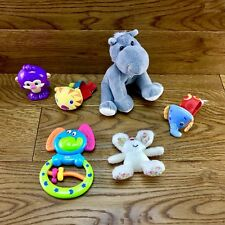 Baby Toy Bundle 6 items teddies wrist rattles crinkle animals bright sensory vgc