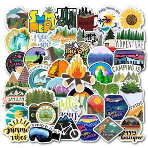 50 Outdoors Hiking Camping Nature Stickers Laptop Car Bumper Bike Decal USA SHIP