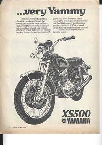 An Original 1975 Magazine Advertisement for the Yamaha XS500 Twin 8v 4-Stroke