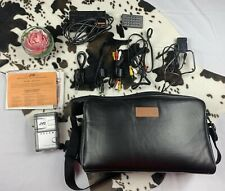 JVC Digital Video Camera MiniDv GR-DVM5 BUNDLE Leather Solidex Case WORKS GREAT