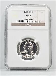 Proof 1959 Washington Silver Quarter 25c NGC PF 67 C67