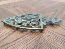 Vintage Brass Sad Iron Trivet Made in Japan