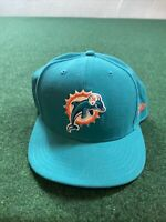 Miami Dolphins Size 7 3/4 New Era 59 Fifty Teal Blue Hat Cap NFL Football
