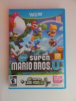New Super Mario Bros. U + New Super Luigi U Game in Case! Nintendo Wii U