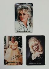 DOLLY PARTON'S DOLLYWOOD AMBASSADOR 3 MAGNET SET-YEARS '90;93;96-GENTLY USED