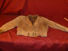 Womens Motorcycle Wilson Designer Leather Adventure Bound Brown Jacket, Size XS