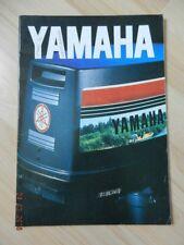 Catalogue YAMAHA moteur de Bateau 1981