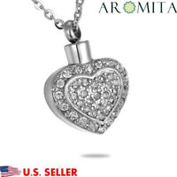 Flickering Heart Cremation Jewelry Keepsake Memorial Ashes Urn Holder Necklace