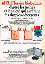 PUBLICITE ADVERTISING 065  1968   ARIEL  lessive bavoirs bébé