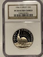 1986-S Proof Liberty Clad Half Dollar Certified NGC PF 70 UC