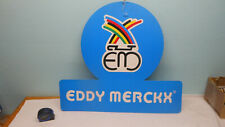 "Original RARE VINTAGE 1980's Eddy Merckx ceiling dealer sign cardboard 19""x 22"""