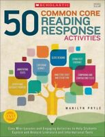 50 Common Core Reading Response Activities : Grades 5 & Up, Paperback by Pryl...