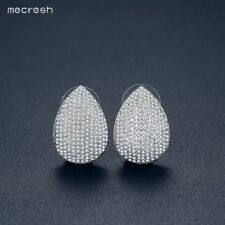 Mecresh Clear Cubic Zirconia Dangle Drop Earrings Xmas Costume Jewellery MEH1116
