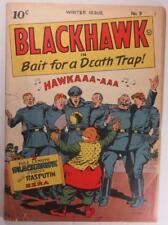 BLACKHAWK COMIC #9 WINTER 1944 QUALIT FIRST ISSUE SPIELBERG MOVIE