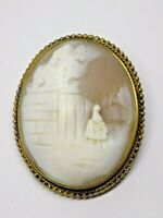 ANTIQUE/VICTORIAN CAMEO BROOCH. EXQUISITE DETAIL. (NCB)