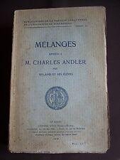 Mélanges offerts à M. Charles Andler par ses amis et ses élèves - T.21