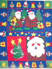 Christmas fabric panel  SANTA Fabric JOLLY OLD MEN SANTA FABRIC ORNAMENT BTP NEW