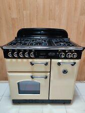 RANGEMASTER CLASSIC 90 CM DUAL FUEL RANGE COOKER IN CREAM AND CHROME. REF--A4