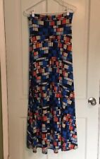 Lularoe Women's Size Small Patriotic Color Maxi Skirt Full Length 4th Of July