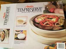 New listing Aladdin Tempreserve Incl Pyrex Glass Bowl Keeps Food Hot Or Cold Insulated Nib