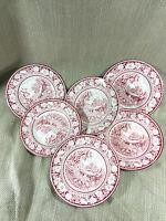 Rosa Staffordshire Transferware Piatti Midwinter Vintage Inglese Cina Set