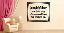Grandchilren are God's Way Vinyl Wall Decal Sticker Home Decor Family