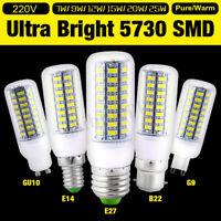 5/7W 9W 12W 15W E27/E14/B22/G9 5730 SMD LED Corn Light Bulb Spotlight 220V Lamp