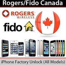 Rogers Fido Canada PREMIUM FACTORY UNLOCK SERVICE IPHONE X 8 7+ 7 6S 6+ XR XS