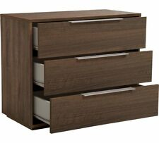 Hygena Bergen 3 Drawer Chest - Walnut Effect