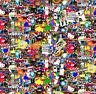 Wassertransferdruck Folie Stickerbomb Cartoon - 50cm breit