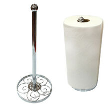 Paper Towel Holder Chrome Counter Table Top Keep Easy Roll Paper in Kitchen