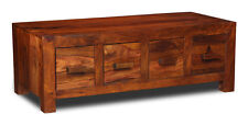 Living Room Furniture Cuba Sheesham 4 Drawer Coffee Table (c16w)