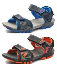 Scarpe sandali neri in pelle per bambini dai 2 ai 16 anni